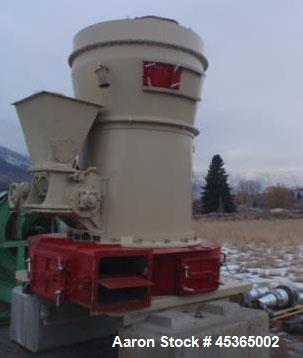 Used- Raymond 5057 High Side Roller Mill. 50 HP 440V motor, rotary feeder 2 HP. Includes Raymond single whizzer classifier 2...
