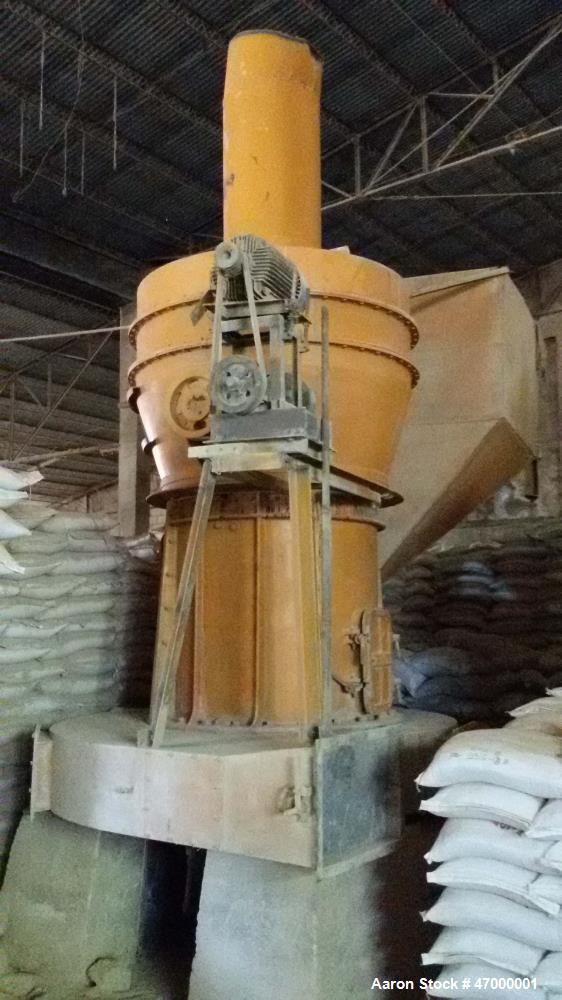"""Used- Raymond Mill, Model R129. 60 hp, 1175 rpm, 16"""" diameter grinding rollers. Last used to pulverize phosphate rocks. Repo..."""