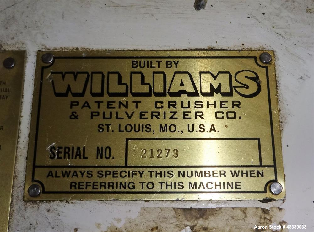 "Used- Williams 85"" Fluid Bed Roller Mill."