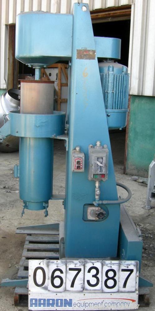 """USED:Chicago Boiler """"red head"""" sand mill, model 8P, carbon steel. Continuous duty, 10"""" grinding chamber, open mill, jacketed..."""