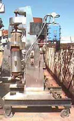 "USED: Chicago Boiler ""Red Head"" sand mill, model 8P. Carbon steel. Open mill, continuous duty. Jacketed tube. 15 hp 3/60/550..."