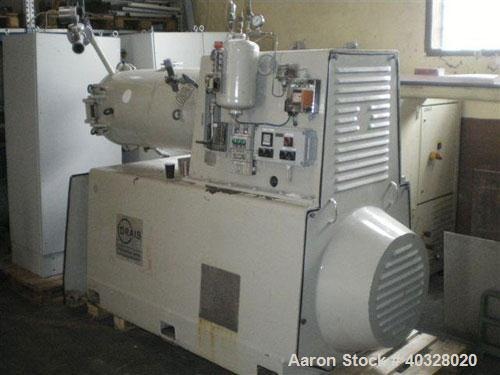 Used-Drais Pearl Mill, Type PH 250. Stainless steel construction on product contact parts. Capacity 8.8 cubic feet (250 lite...