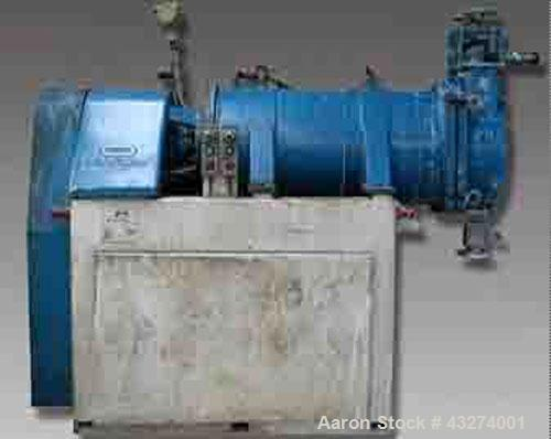"""Used-Dyno-Mill KD200 C Bead Mill.  Stainless steel, jacketed, 53 gallons (200 liters) capacity, chamber size 19"""" diameter x ..."""