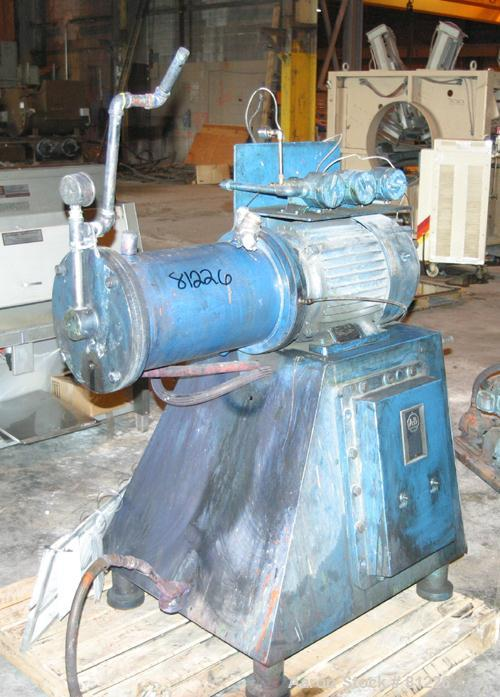 "USED: Eiger horizontal media mill, model 20L-H-EXP, tool steel. 10"" diameter x 18"" long jacketed chamber. 5.2 gallon capacit..."