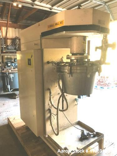 Used- Fryma Coball Mill, Model MS-50. High performance annular gap bead mill for sub-micron milling. Capacity: 4 m3/hr. Capa...