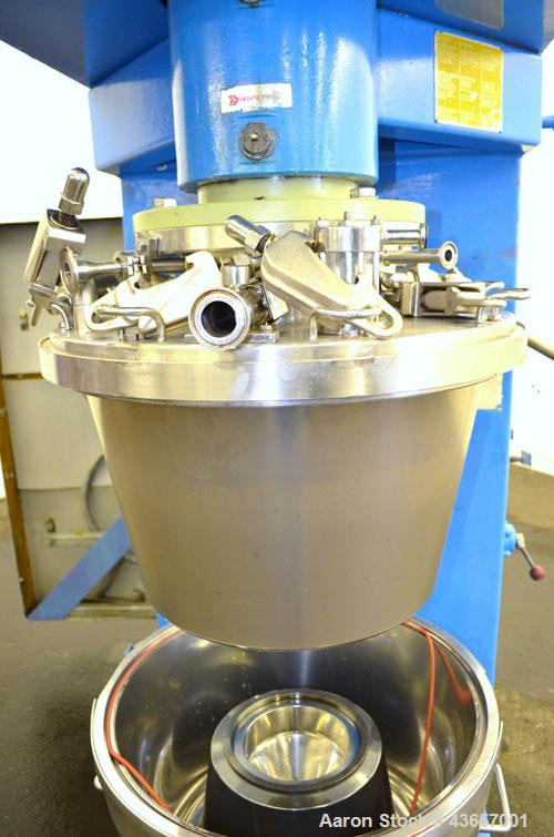 Used- Fryma CoBall Annular Gap Bead Mill, Model MS-50. 316 Stainless steel product contact areas. Jacketed bowl, grinding vo...