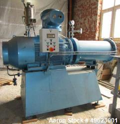 Used- Eiger Torrance Ltd Horizontal Sand Mill, Model 150L-SSE-SCN-EXD. Material of construction: carbon steel hard chrome pl...