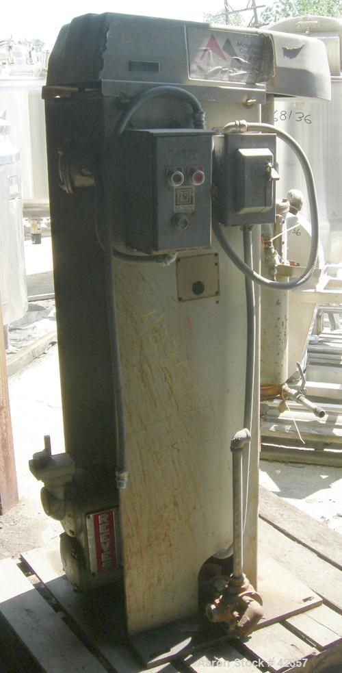 USED: Morehouse-Cowles model 5-5 sand mill, 5 gallon capacity. 7-1/2 hp XP belt drive. 230/460V/1750 rpm. Viking HL-32 feed ...