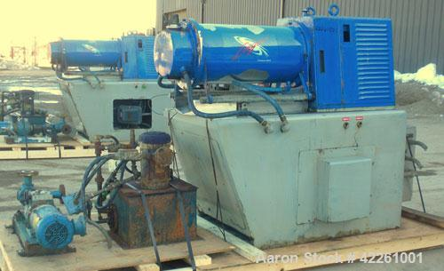 "Used- Morehose Cowles Zinger Horizontal Media Mill, Model LV-40F, 304 Stainless Steel. Approximately 11"" diameter x 28"" long..."