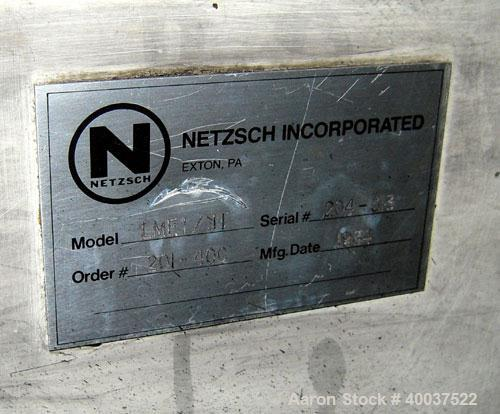 Used- Stainless Steel Netzsch Horizontal Media Mill, Model LME1/J1