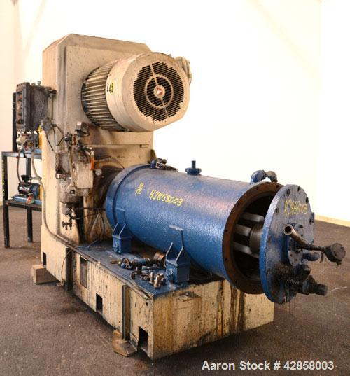 Used- Netzsch Horizontal Media Mill, Model LME-200K, Type 574.77.08, Carbon Steel. Jacketed chamber capacity 59.9 gallon (22...