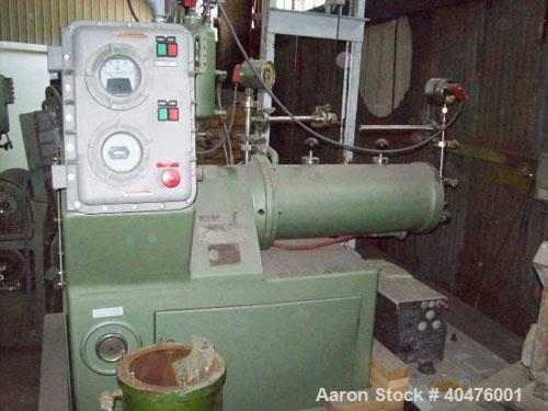 Used-Netzsch Mill, model LME-20 with dynamic cartridge. The mill has been completely rebuilt by Netzsch and has no run time ...