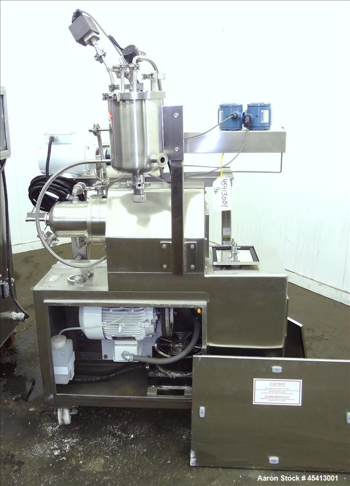 Used- Stainless Steel Netzsch Small Horizontal Media Mill, Model LME4 / LMZ2