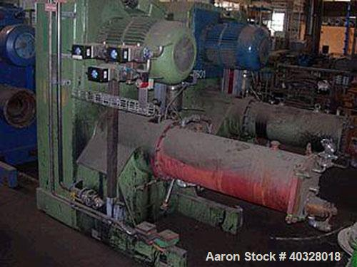 Used-Netzsch Pearl Mill, hardened steel. Total capacity 8.7 gallons (33 liters) and working capacity 5.8 gallons (22 liters)...