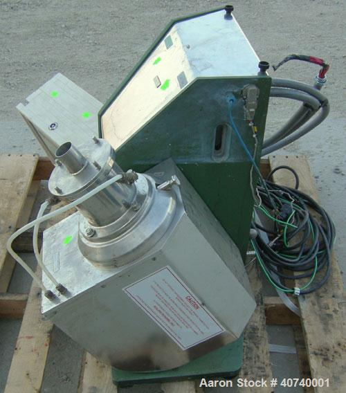 "Used- Netzsch Labstar Media Mill, Model LS-1, Type 993-06, .6 Liter Capacity.  Approximate 3 3/4"" diameter, 316 stainless st..."