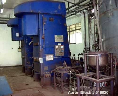 USED: Netzsch attrition mill, model RM100F, 100 liter capacity,vertical design, peg/counter-peg system, enclosed design, ful...