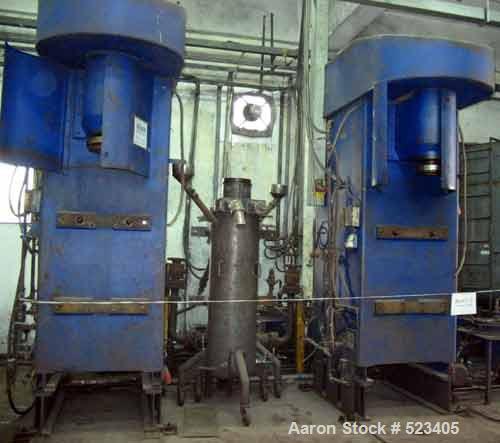 USED: Netzsch attrition mill, model RM100F, 100 liter capacity, vertical design, peg/counter-peg system, enclosed design, fu...