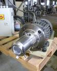 Used- Eiger Machinery Mini Motor Media Mill, model MKII-M250-VSE-EXP, 304 stainless steel. Horizontal jacketed chamber appro...