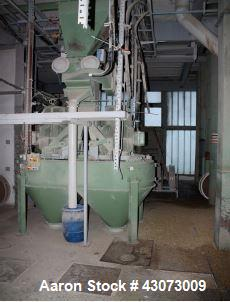 """Used- Bühler Rotor Mill, Model DFZH2. Throughput for barley of up to 2.4"""" edge length: 13.2 tons / hour (12 mt/h). 2 x 100 H..."""