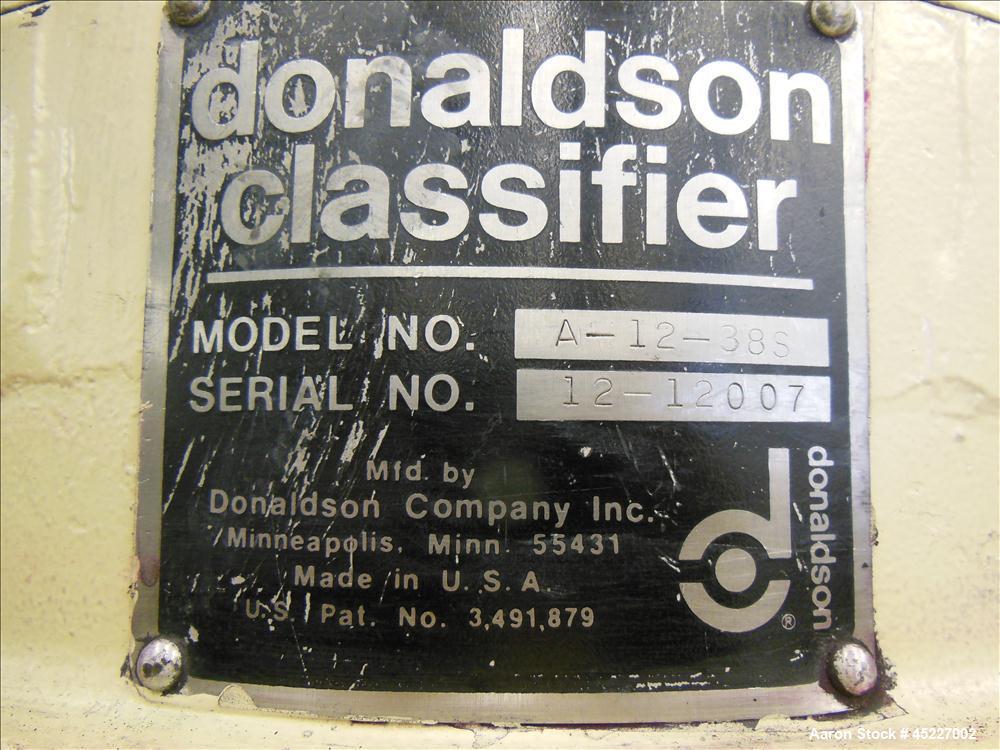 Used- Donaldson Accucut Model A12 Classifier