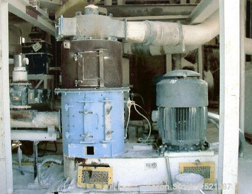 USED: Elliott pulverizer, 200 hp main drive, 230/460 volt, 3 ph, 60 hz. Double row self-aligning spherical roller bearings, ...