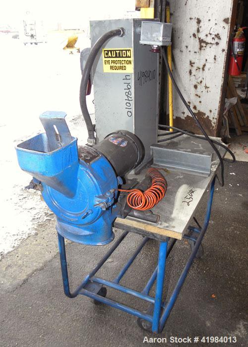 "Used- Gruendler Crusher & Pulverizer Axial Grinder/Hammer Mill, model ""O"", carbon steel. Approximate 8"" diameter x 3"" deep c..."
