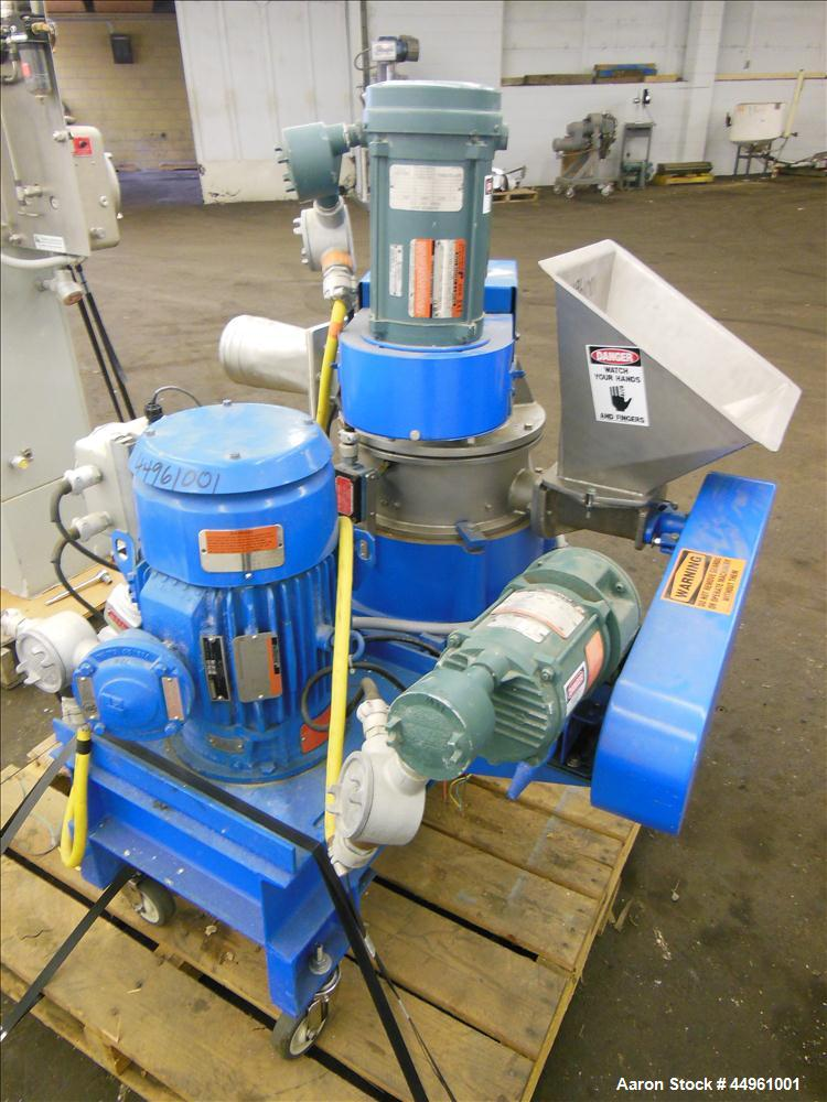 """Used- Hosokawa Micron Powder Systems ACM Air Classifying Mill, Model 10 ACM, 304 Stainless Steel. Approximate 11"""" diameter g..."""