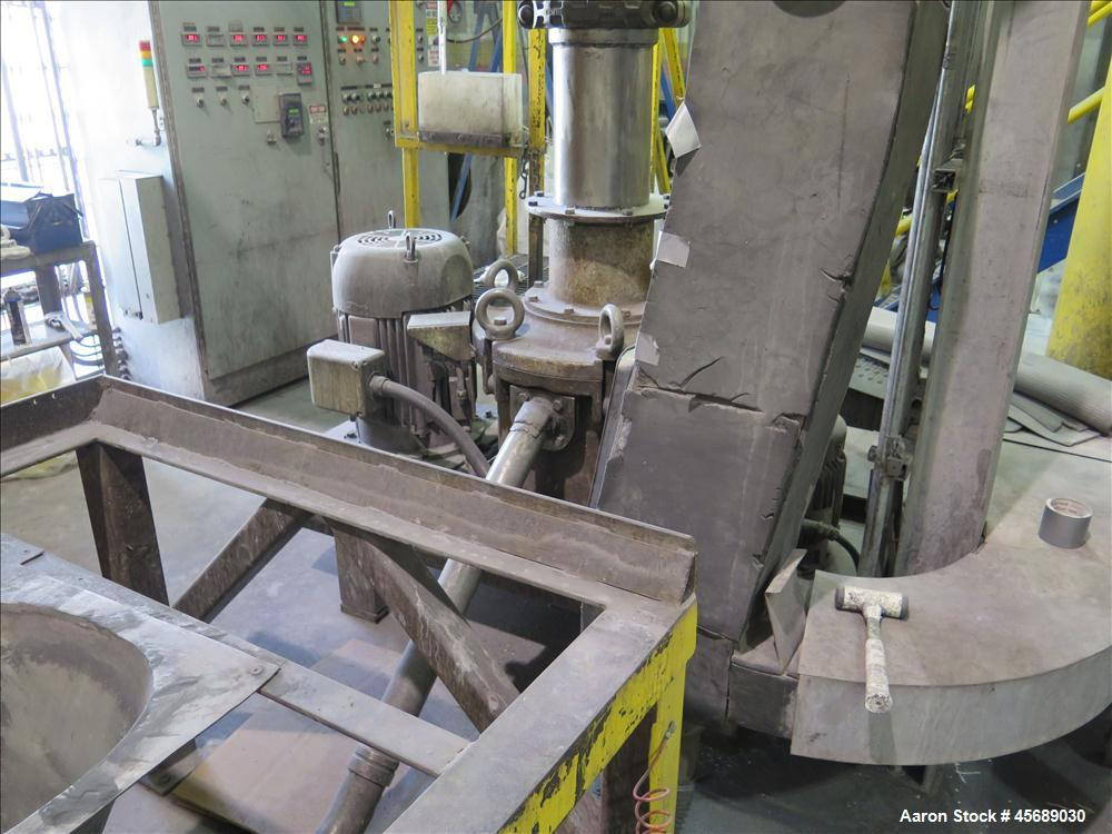 Used-Hosokawa Mikropul Pulverizer, Model 40ACM.  Carbon Steel Construction.  Includes; AZO Sifter, Model E650, Cyclone, Mikr...