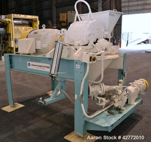 """Used- Micron Powder Systems Mikro Pulverizer Hammer Mill, Model 4SCB, Carbon Steel. 20"""" Diameter x 12"""" wide rotor with 4 row..."""