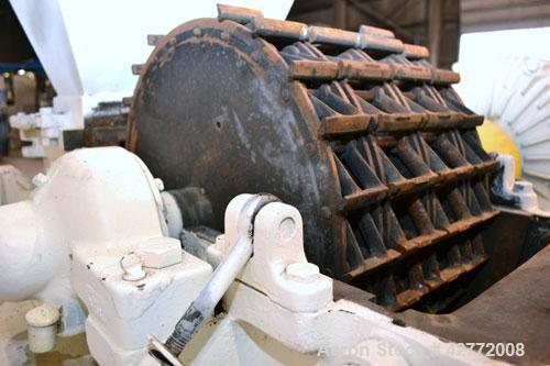 "Used- Mikro Pulverizer Hammer Mill, Model 4TH, Carbon Steel. 20"" Diameter x 12"" wide rotor with 4 rows swinging stirrup hamm..."