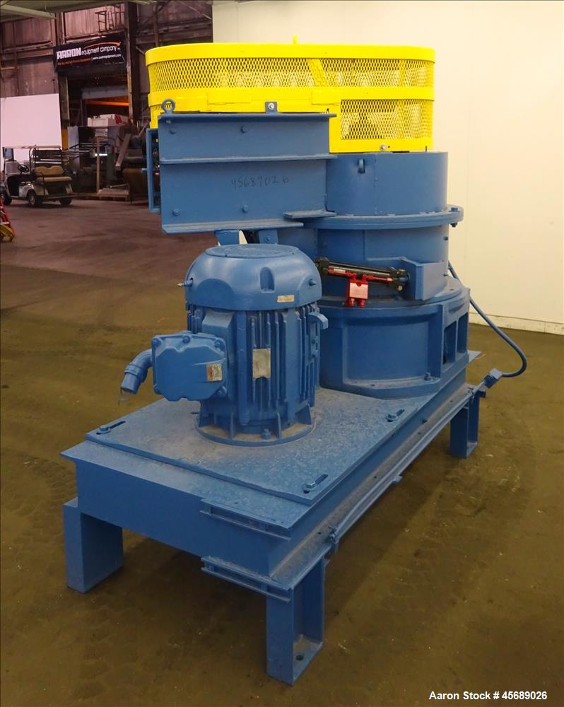"Used- Hosokawa Mikropul Pulverizer, Model 60ACM, Carbon Steel. Approximate 31-1/2"" diameter rotor. Driven by a 75hp, 3/60/23..."