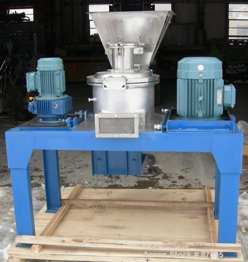 Unused- IMM ACM Type Classifier Pulverizer, Model JCL320, 304 Stainless Steel. Maximum capacity 66-880 pounds per hour, air ...