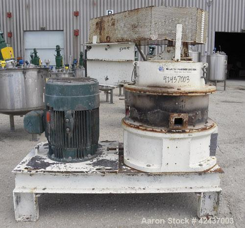 Used- Mikro Air Classifying Mill, Model 60ACM, Carbon Steel. Approximate 30'' diameter grinding chamber. Maximum rotor speed...