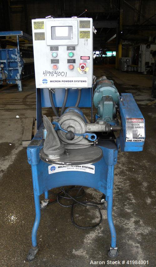 """Used- Micron Powder Systems Mikro Bantam Pulverizer Hammer Mill, Model 611072EX, 304 Stainless Steel. Approximate 5-1/4"""" dia..."""