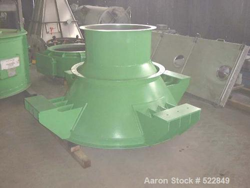 USED: Micron separator air classifier, MS-5H. Includes header assembly with pillow block assembly, outlet for fines, and mot...