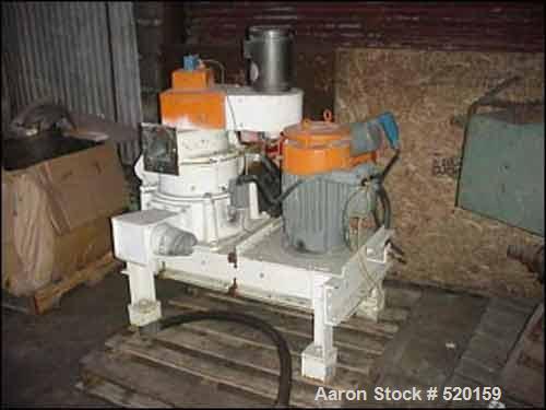 USED: Mikro Pulverizer model 10ACM, carbon steel construction.10 hp main drive, 230/460 volt, 3 phase, 3600 rpm XP 1 hp vari...