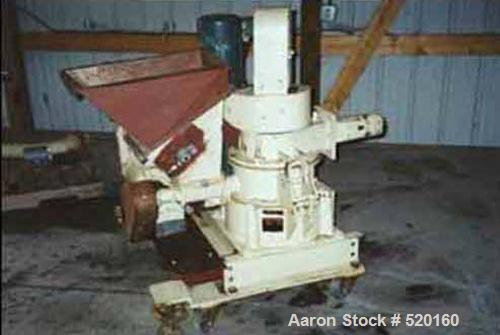 USED: Model 10ACM Mikro Pulverizer, carbon steel construction. 10 hp main drive, 2 hp variable speed classifier drive, 3/4 h...
