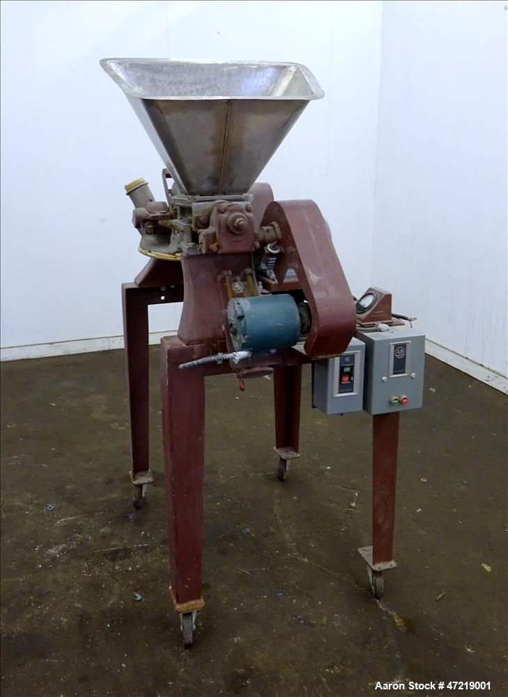 Used- Mikro Pulverizer Hammer Mill, Model 1SH, 304 Stainless Steel