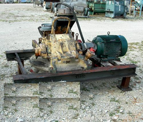 "Used- Mikro Pulverizer, Model 3TH, Carbon Steel. 14"" Diameter x 14"" wide rotor with approximate 14 rows of 4 swinging stirru..."