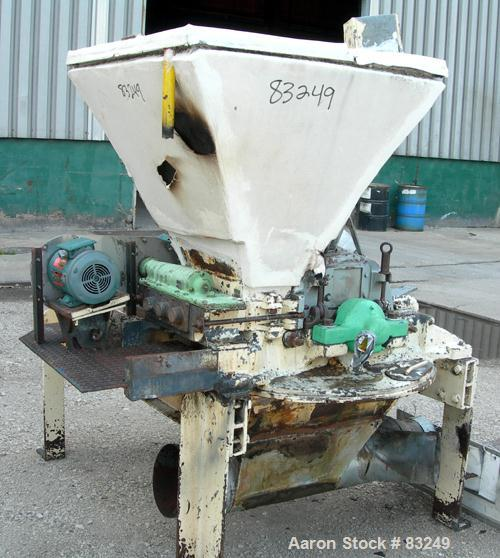 "Used- Mikro Pulverizer, Model 3TH, Carbon Steel. 14"" Diameter x 14"" wide rotor with approximately 14 rows of 4 swinging stir..."