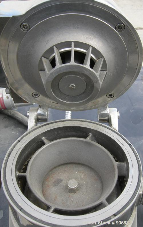 """Used: Mikro ACM pulverizer, model 1ACM, 316 stainless steel. 20 to 70 CFM.Approximately 4 1/2"""" diameter grinding chamber wit..."""