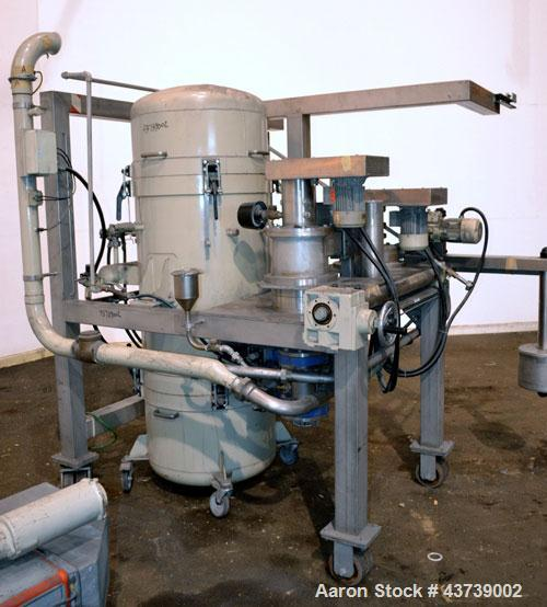 Used- Neuman & Esser Impact Classifier System, 304 Stainless Steel. Consisting Of: (1) Radial Classifier, model SDR3.8-4.8BD...