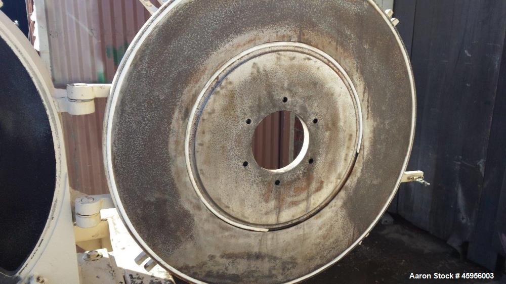 Used- Prater Find Grinding Mill, Model M24/UT33 with P8H-I-J internals. Carbon steel. 50 hp 230/460v xp, Year 1999.