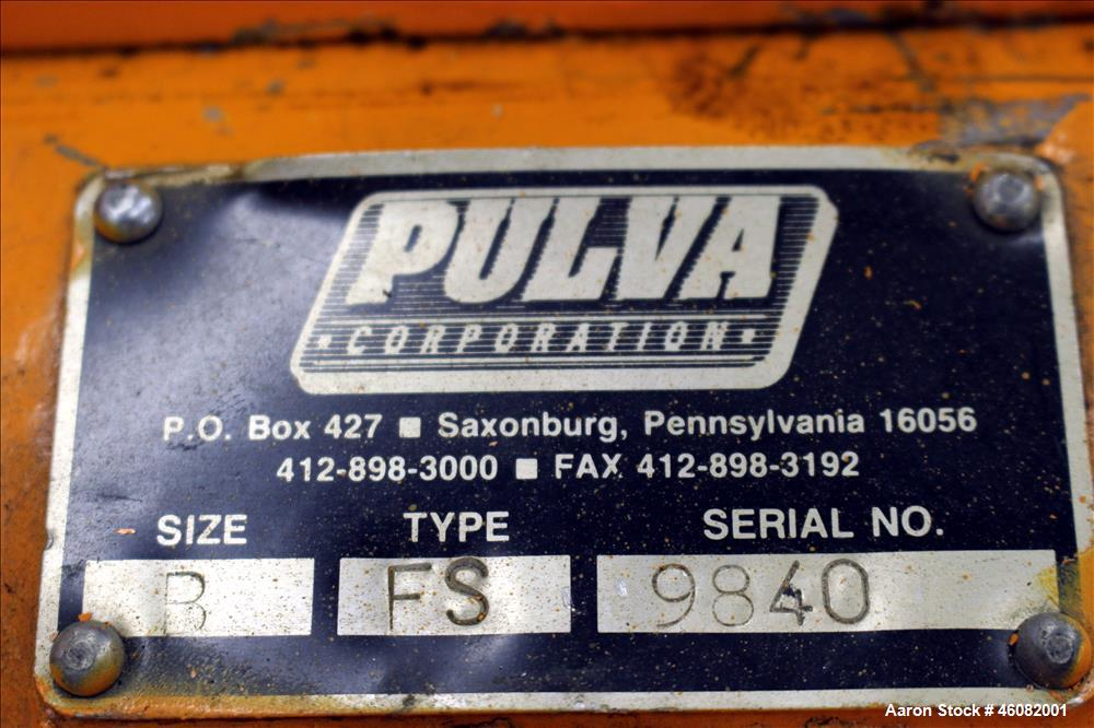 Used- Pulva Corporation Type FS Pulverizer
