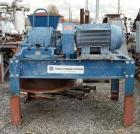 Used- Hosokawa Micron Pulverizer, Model 4TH, Carbon Steel. Triple horizontal screw feeder with motor, 100 hp main drive, 345...