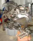 Used- Mikro Pulverizer, Model 2DH. 316 Stainless steel construction, twin horizontal screw feeder with 0.5 hp drive, on stai...