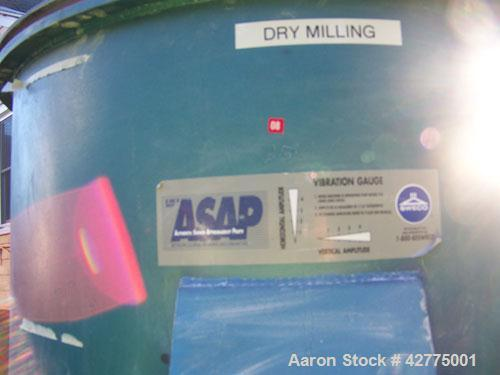 Used-Sweco Dry Vibro Energy Grinding Mill, model DM4.  2.5 hp, 3 phase, 213T frame, duty cont SF 1.0, type TEEP, Des B, Code...