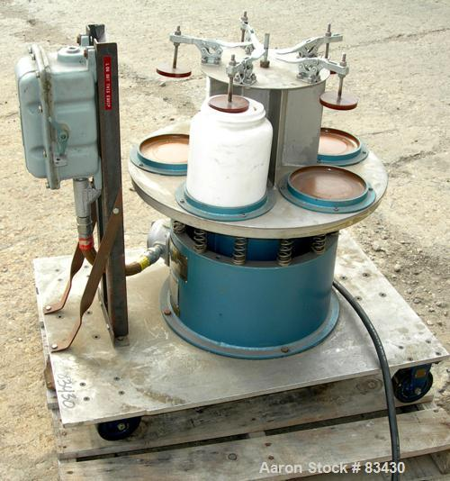 "USED: Sweco vibro energy grinding mill, model M18. Unit can accept (5) 5"" diameter x 5-1/2"" deep ceramic jars, (2) included...."