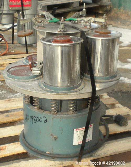 Used- Sweco Multiple Chamber Low Amplitude Vibro-Energy Grinding Mill, Model M18