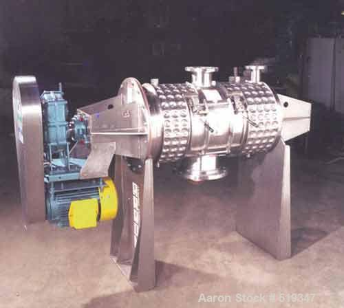 Unused-NEW: Aaron Process Equipment 12 cubic foot, 340 liter, plow mixer inT304SS all over and polished to a #4, 150-180, gr...